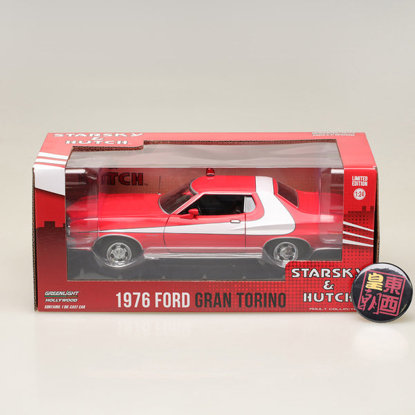 GreenLight 1:24 Starsky and Hutch (TV Series 1975-79) - 1976 Ford Gran Torino Diecast Model Car 84042