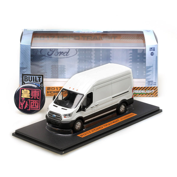 GreenLight 1:43 2017 Ford Transit LWB High Roof - Oxford White Diecast Model Car 86083