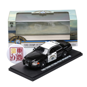 GreenLight 1:43 2008 Ford Crown Victoria Police Interceptor California Highway Patrol Diecast Model Car 86086