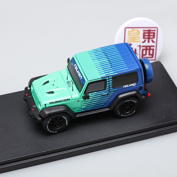 GreenLight 1:43 2014 Jeep Wrangler Rubicon - Falken Tire Diecast Model Car 86090