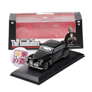 GreenLight 1:43 The Godfather (1972) - 1941 Lincoln Continental with Bullet Hole Damage 86511