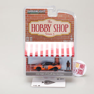 GreenLight 1:64 The Hobby Shop Series 3 - 2011 Nissan GT-R (R35) with Race Car Driver 97030-E