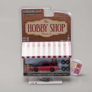 GreenLight 1:64 The Hobby Shop Series 4 - 2002 Nissan Skyline GT-R (R34) with Spare Tires 97040-E