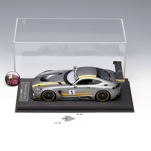 Frontiart AvanStyle 1:18 Mercedes Benz AMG GT3 2016 #1 Matt silver Limited 250 Resin Model Car AS002-72