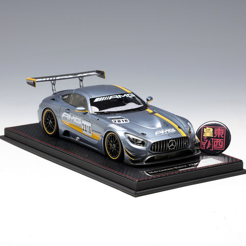 Frontiart AvanStyle 1:18 Mercedes Benz AMG GT3 2016 #1 Grey blue Resin Model Car AS002-82