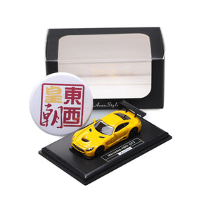 Frontiart AvanStyle 1:87 Mercedes Benz AMG GT Yellow Resin Model Car AS017-08