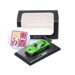 Frontiart AvanStyle 1:87 Mercedes Benz AMG GT Green Resin Model Car AS017-45