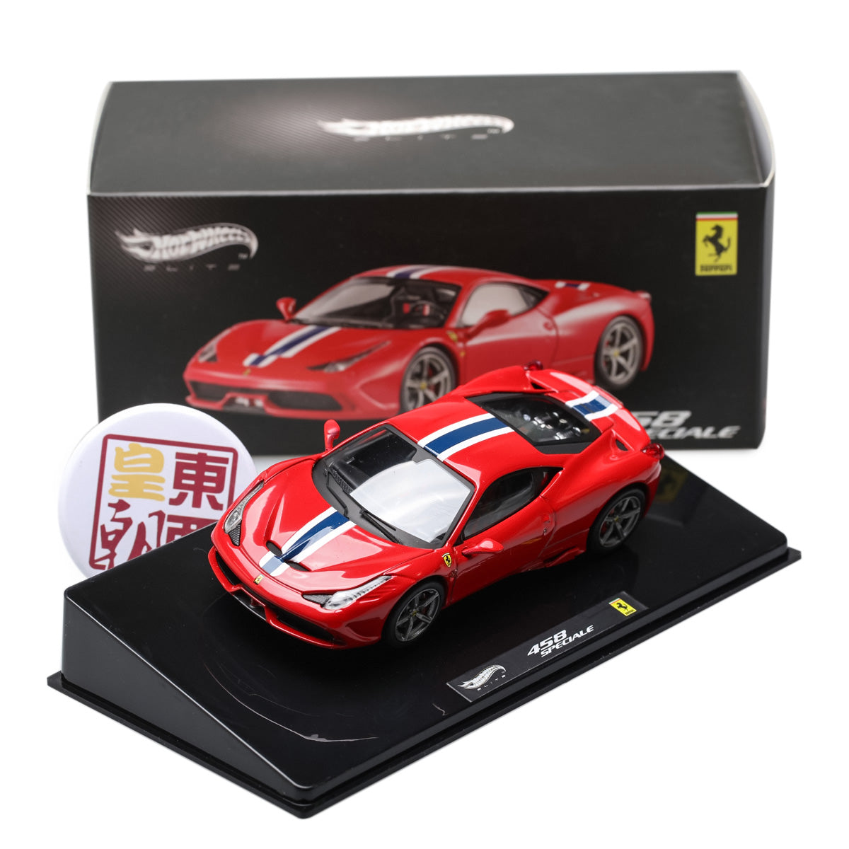 Hot Wheels Elite 1:43 Ferrari 458 Italia Special 2013 Red Diecast Model Car BLY45