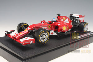 Hot Wheels 1:18 2014 F1 Ferrari F14 T #14 Fernando Alonso Diecast Model Car BLY67