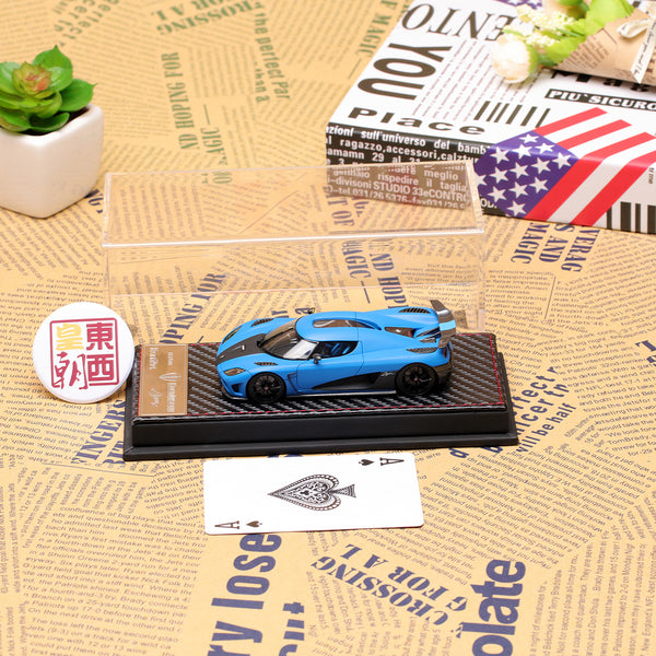 Frontiart 1:43 Koenigsegg Agera R Limited 500 matt blue Resin Model Car F014-22