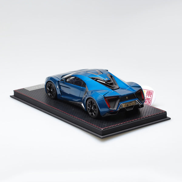 Frontiart 1:18 W Motors Lykan Hypersport Metallic blue Resin Model Car F030-11