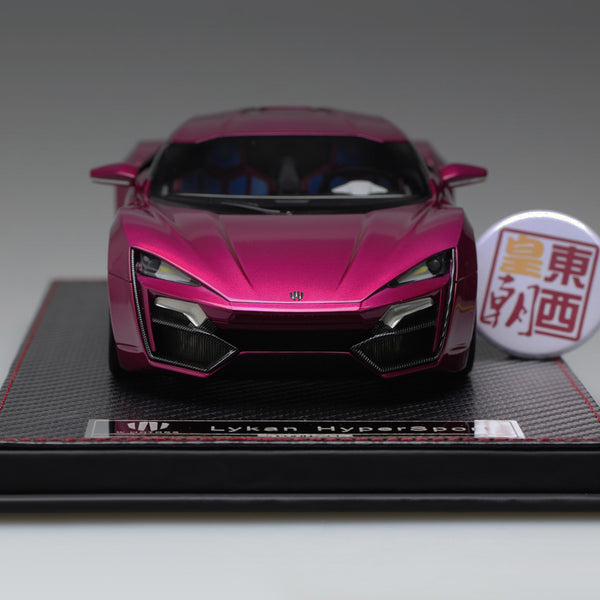 Frontiart 1:18 W Motors Lykan Hypersport Pink purple Resin Model Car F030-36