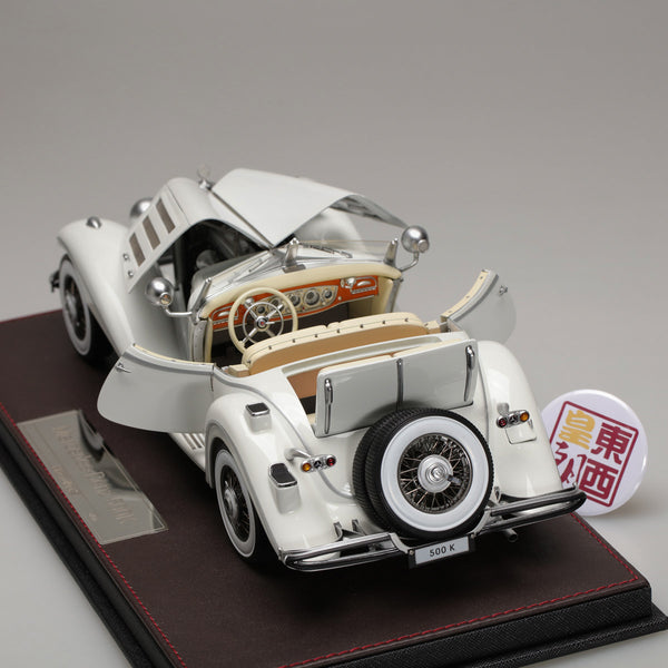 Frontiart 1:18 Mercedes Benz 500K White Full open FA011-02