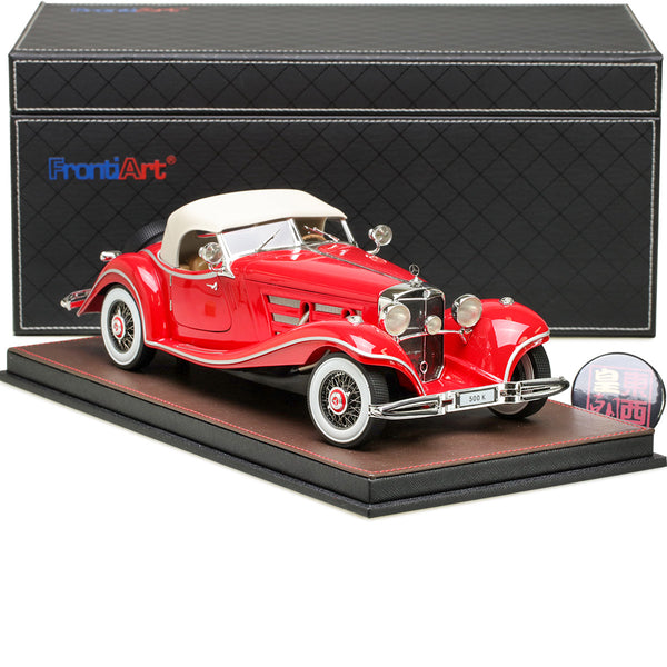Frontiart 1:18 Mercedes Benz 500K Cabriolet Open Close Red Resin Model Car FA011-06