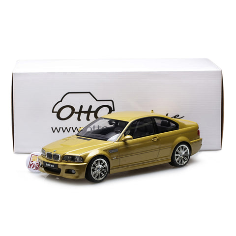 OTTO 1:12 BMW M3 E46 Phoenix Yellow Resin Model Car G025
