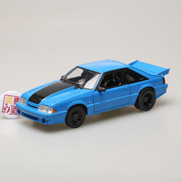 "GMP 1:18 GMP 1320 Drag Kings 1993 Ford Mustang Cobra ""King Snake"" - Grabber Blue GMP-18881"