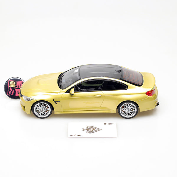 GT Spirit 1:18 BMW M4 F82 Competition Package in Auction Yellow Resin Model Car GT164