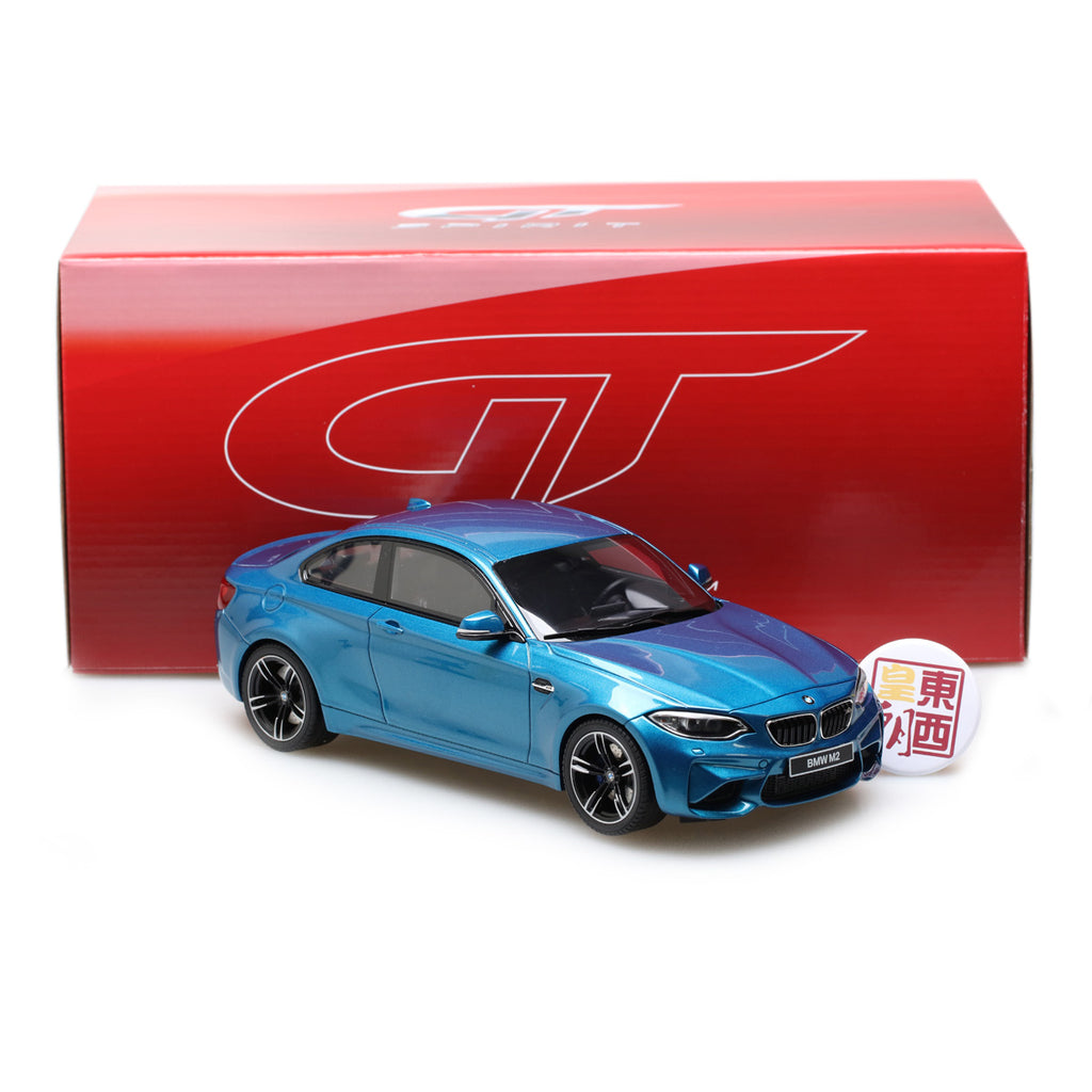 gt spirit 1 18 bmw m2 coupe from 2016 in metallic blue. Black Bedroom Furniture Sets. Home Design Ideas