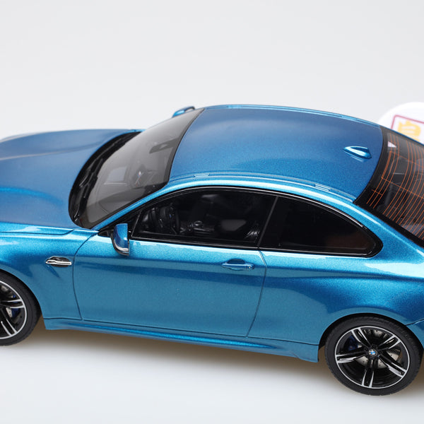GT Spirit 1:18 BMW M2 Coupe from 2016 in Metallic Blue Resin Model Car GT170