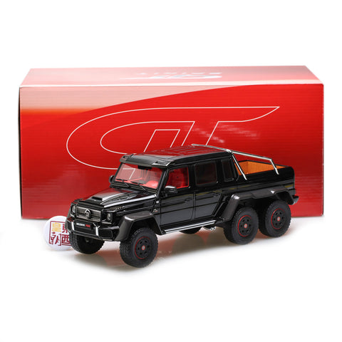 GT Spirit 1:18 Mercedes Benz G63 Brabus 700 6x6 Black Resin Model Car GT199