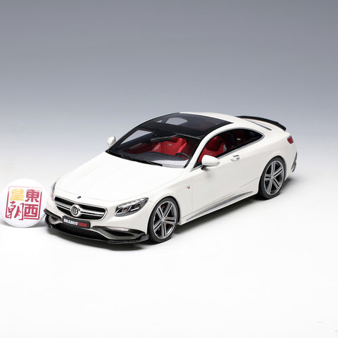 GT Spirit 1:18 Mercedes Benz S65 Coupe BRABUS 900 Polar White Resin Model Car GT747