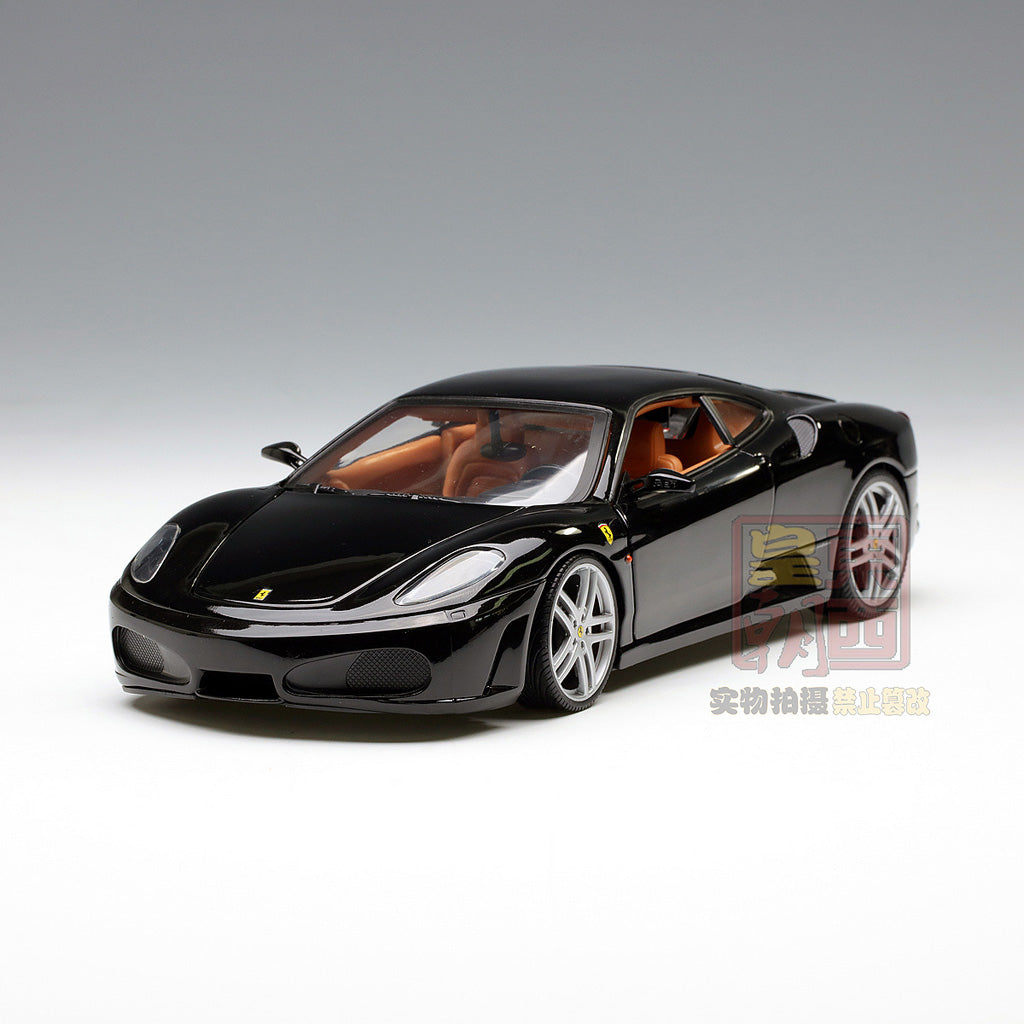 hot wheels 1 18 ferrari f430 coupe black diecast model car. Black Bedroom Furniture Sets. Home Design Ideas
