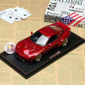 Ignition 1/18 Rocket Bunny Mazda RX-7 (FD3S) Red Metallic Resin Model Car IG1035