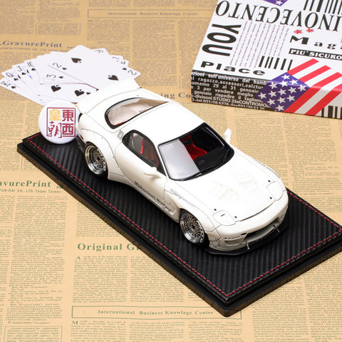 Ignition 1/18 Rocket Bunny Mazda RX-7 (FD3S) White Resin Model Car IG1036