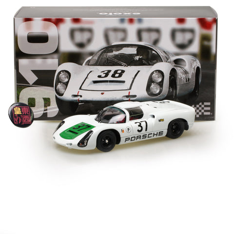 EXOTO 1:18 1967 Porsche 910 #37 Sebring 2nd in class 4th overall Diecast Model Car MTB00062