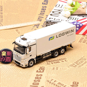 "NZG 1:50 MERCEDES BENZ ACTROS 6X2, FH25 ""LOGWIN"" Diecast Model Car 8451/01"