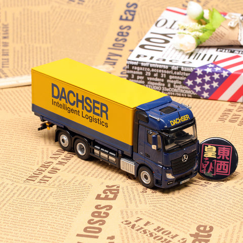 NZG 1:50 Mercedes Benz Actros FH25 6x2 Dachser Exchange Bridge Diecast Model Car 8451/02