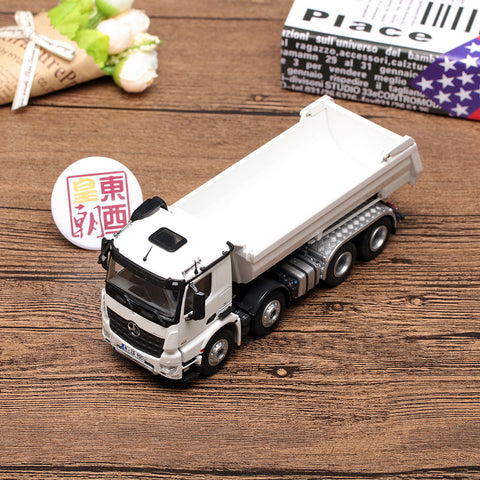 NZG 1:50 Mercedes Benz Arocs 8x4 Halfpipe Halfpipe Tipper White Diecast Model Car 905/40