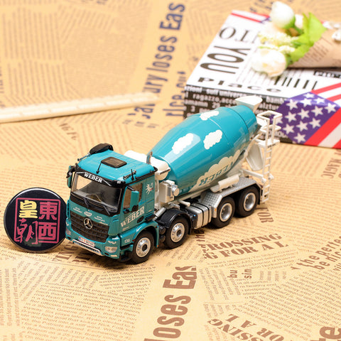 NZG 1:50 Mercedes Benz Arocs 8x4 Concrete Mixer Truck Weber Diecast Model Car 906/11