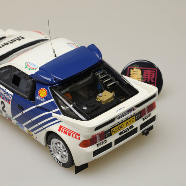 OTTO 1:18 Ford RS200 Groupe B #.2 Lombard RAC Rally 1985 Resin Model Car OT679