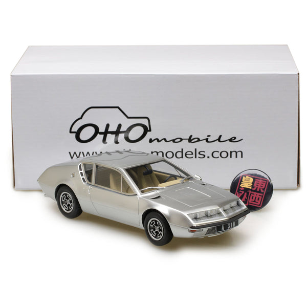 OTTO 1:18 Renault Alpine A310 1600 Phase I Silver Resin Model Car OT680
