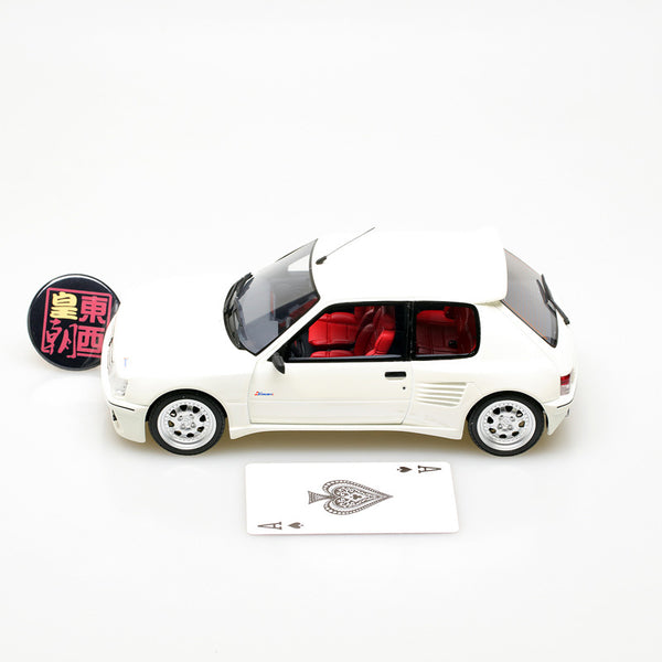 OTTO 1:18 Peugeot 205 Dimma White Resin Model Car OT681
