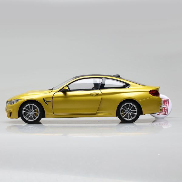 PARAGON 1:18 BMW M4 Coupe Yellow Diecast Model Car PA-97103