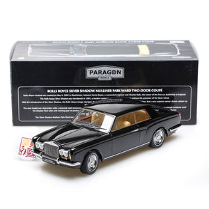 PARAGON 1:18 Rolls Royce Silver Shadow MPW 2-Doors Coupe Black LHD Diecast Model Car PA-98202L