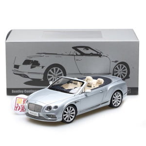 PARAGON 1:18 Bentley Continental GT Convertible LHD Silver Diecast Model Car PA-98231L