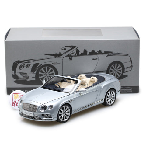 PARAGON 1:18 Bentley Continental GT Convertible RHD Silver Diecast Model Car PA-98231R