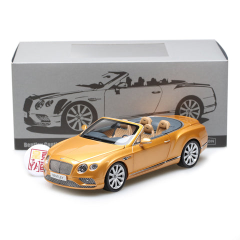 PARAGON 1:18 Bentley Continental GT Convertible LHD Gold Diecast Model Car PA-98232L