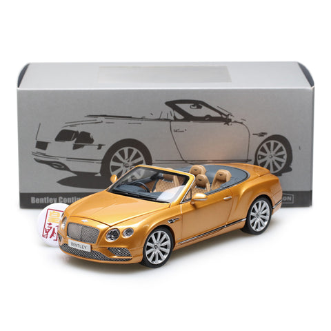 PARAGON 1:18 Bentley Continental GT Convertible RHD Gold Diecast Model Car PA-98232R