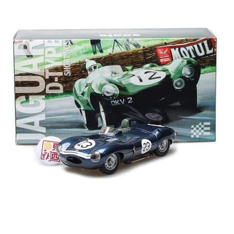 EXOTO XS 1/18 1956 Jaguar D-Type #23 Short Nose Ecurie Ecosse UK Reims 12 Hours Diecast Model Car RLG88004C