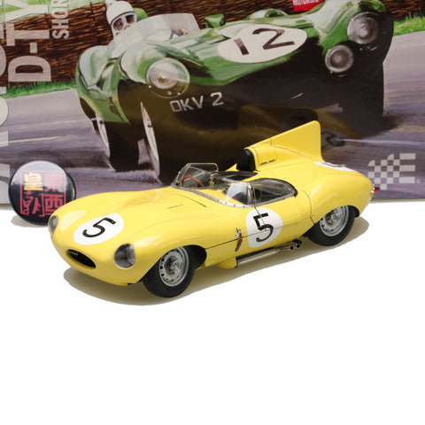 EXOTO XS 1:18 1956 Jaguar D-Type #5 Short Nose Equipe Nationale Belge Le Mans 24 Hours Diecast Model Car RLG89002B