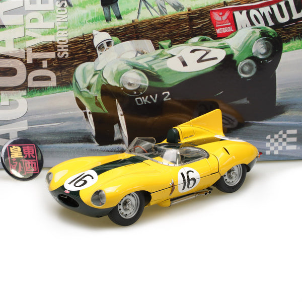 EXOTO XS 1:18 1957 Jaguar D-Type #16 Short Nose Equipe Nationale Belge Le Mans 24 Hours Diecast Model Car RLG89002C