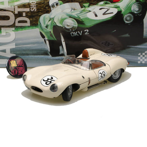 EXOTO XS 1:18 1958 Jaguar D-Type #38 Short Nose The Border Reivers Diecast Model Car RLG89006