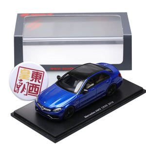 SPARK 1:43 Mercedes Benz C-Class C63S Amg 2016 Blue Resin Model Car S4913