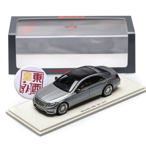 SPARK 1:43 Mercedes Benz S-Class Amg S65 (V222) 2016 Grey Met Resin Model Car S4916