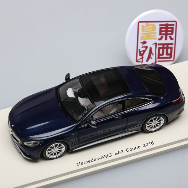 SPARK 1:43 Mercedes Benz S-Class S63 Amg Coupe 2016 Black Resin Model Car S4918