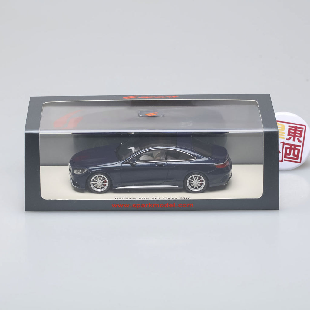 SPARK 1:43 Mercedes Benz S-Class S63 Amg Coupe 2016 Black